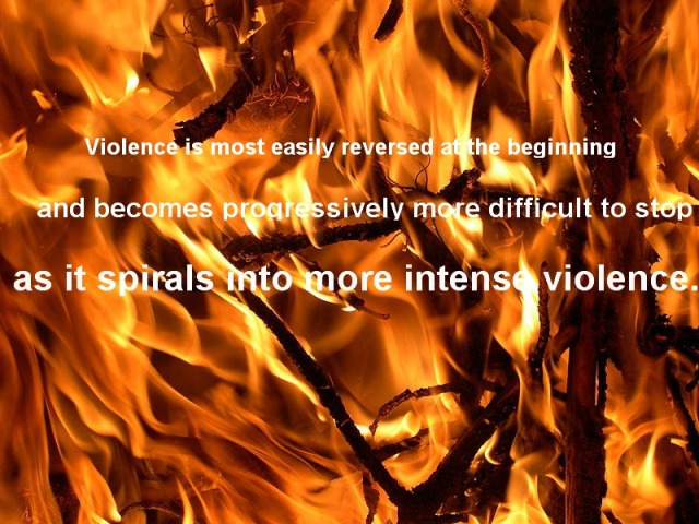 violence tends to escalate, non-violent tactics,