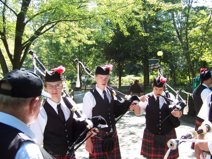 teenage bagpipers, esoteric interests, kids' interests, excellence through interests,