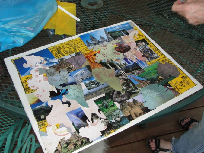 make a collage, throw a collage party,
