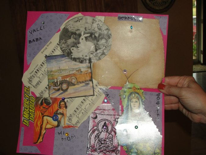 turn junk into collage,