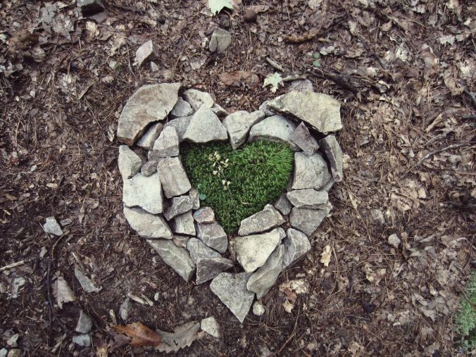 Heart made while hiking. (Image by Sam Weldon)