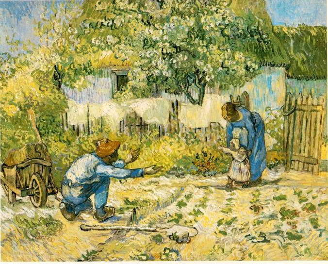 First Steps, by Vincent van Gogh