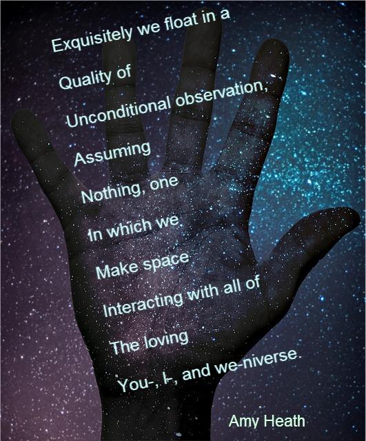 Amy Heath, acrostic poem, pixabay.com/en/space-sky-hand-fingers-paint-636894/