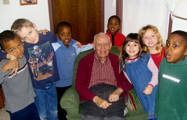 start nursing home playgroup, preschool in retirement home,