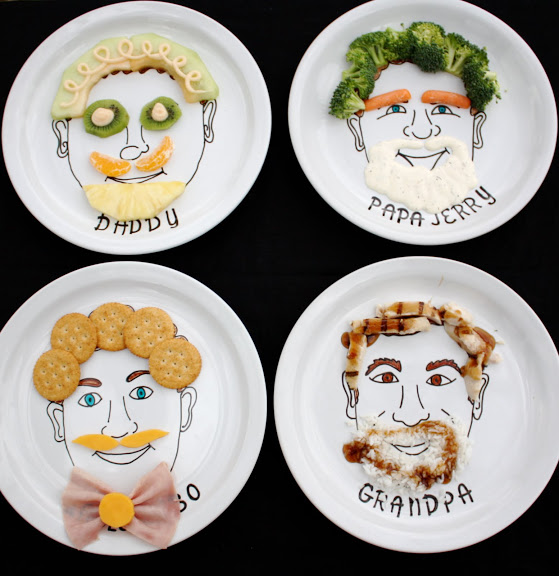 Of course you should play with your food! (Thanks to At Second Street for plate painting instructions.)