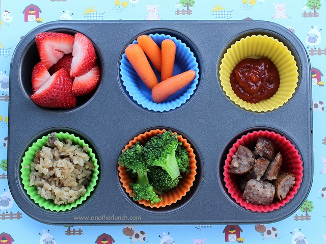 Muffin tin meals.