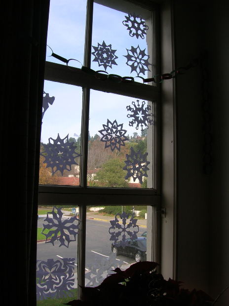 cut out paper snowflakes
